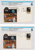 Explorers:Space Exploration, Apollo 11: NASA Manned Spacecraft Center Stamp Club Launch and Lunar Landing Covers (Two) Directly From The Armstrong ... (Total: 2 Items)