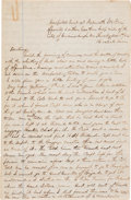 Autographs:Military Figures, [Battle of Fredericksburg]. Clark Smith Autograph Letter Signed....