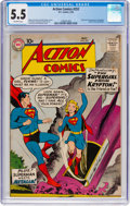 Silver Age (1956-1969):Superhero, Action Comics #252 (DC, 1959) CGC FN- 5.5 Off-white pages....