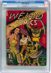 Weird Comics #1 (Fox Features Syndicate, 1940) CGC GD+ 2.5 Cream to off-white pages
