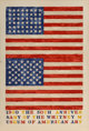 Jasper Johns (b. 1930) Two Flags (Whitney Anniversary), 1980 Lithograph in colors on Arches 88 paper 44-1/4 x 28-3/4