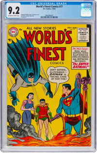 World's Finest Comics #77 (DC, 1955) CGC NM- 9.2 Off-white to white pages