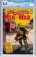 Golden Age (1938-1955):War, All-American Men of War #8 (DC, 1953) CGC VF 8.0 White pages....