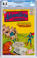 Silver Age (1956-1969):Superhero, Adventure Comics #222 (DC, 1956) CGC VF+ 8.5 White pages....