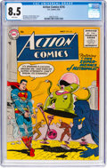 Silver Age (1956-1969):Superhero, Action Comics #216 (DC, 1956) CGC VF+ 8.5 White pages....
