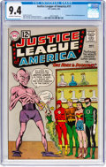 Silver Age (1956-1969):Superhero, Justice League of America #11 (DC, 1962) CGC NM 9.4 Off-white towhite pages....