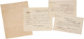Autographs:Military Figures, [Civil War]. Confederate Officer William Allison Documents (4) Related to his Parole....