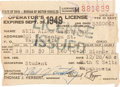 Explorers:Space Exploration, Neil Armstrong's Signed 1948-49 Ohio Driver's License. ...