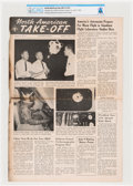 Explorers:Space Exploration, Apollo: 1963 North American Aviation Take-Off Newsletter With an Article on Moon Flight Simulator Training Directl...