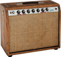 Musical Instruments:Amplifiers, PA, & Effects, Tommy Tedesco's Circa 1970's Fender Princeton Reverb-Paul Rivera Custom Natural Guitar Amplifier, Serial # A29143.. ...