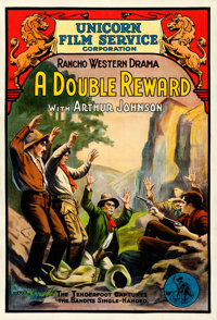 """The Tenderfoot's Triumph (Unicorn Film Service, R-Early 1910s). Fine/Very Fine on Linen. One Sheet (27.5"""" X 41""""..."""