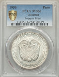 Colombia, Colombia: Republic Peso 1956-(Mo) MS66 PCGS,...