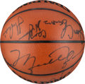Basketball Collectibles:Others, 1992-93 Chicago Bulls Team Signed Basketball. ...