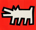 Fine Art - Work on Paper:Print, Keith Haring (1958-1990). Untitled, from Icons, 1990.Silkscreen in colors with embossing on Arches Cover paper. 21 ...