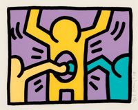 Keith Haring (1958-1990) Pop Shop I, set of four, 1987 Screenprints in colors on wove paper 10-1/
