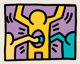 Keith Haring (1958-1990) Pop Shop I, set of four, 1987 Screenprints in colors on wove paper 10-1/2 x 13-3/8 inches (2...