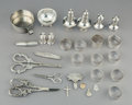 Silver Holloware, Continental:Holloware, Twenty-Eight Silver Table Items and Smalls. Marks: (various). 6-3/8inches (16.2 cm) (longest, grape shears). 24.34 troy oun... (Total:28 Items)