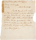 Autographs:Statesmen, Elbridge Gerry Draft Autograph Letter to Samuel Adams....