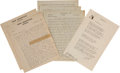 Autographs:Authors, George William Russell Autograph Letter Signed with Pseudonym ... (Total: 3 Items)