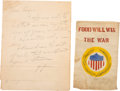 Autographs:U.S. Presidents, Herbert Hoover Autograph Letter Signed ...