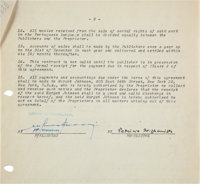 Patricia Highsmith Contract Signed for The Talented Mr. Ripley