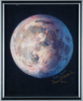 "Explorers:Space Exploration, Alan Bean Signed Limited Edition ""A Most Beautiful Moon"" Giclée Canvas, #26/150...."