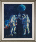 "Explorers:Space Exploration, Alan Bean Signed Limited Edition ""Lunar High Five"" Giclée Canvas, #95/400...."