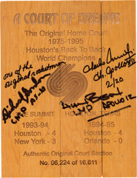 """Apollo 12 Crew-Signed Limited Edition Souvenir """"A Court of Dreams"""" Floorboard Section from The Summit in Houst..."""