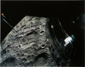 Explorers:Space Exploration, Fred Haise Signed Apollo 13 Large Lunar Color Photo with Added Description....
