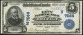 National Bank Notes:Maine, Belfast, ME - $5 1902 Plain Back Fr. 598 The City NB Ch. # (N)7586....