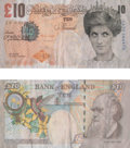 General Americana, After Banksy . Di-Faced Tenner, 10 GBP Note, 2005. Offsetlithograph in colors on paper. 3 x 5-5/8 inches (7.6 x 14.3 cm...