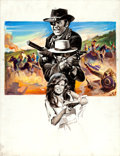 Movie Posters:Western, Bandolero! by Boris Grinsson (20th Century Fox, 1968). SignedOriginal French Gouache Poster Artwork on Illustration Board (...