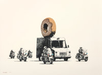 Banksy (b. 1974) Donuts (Chocolate), 2009 Screenprint in colors on Arches paper 22 x 29-7/8 inche