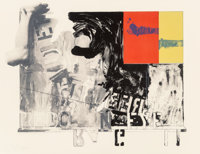 Jasper Johns (b. 1930) Passage I, 1966 Lithograph in colors on wove paper 28 x 36-1/4 inches (71