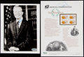 Autographs:Photos, President Jimmy Carter Signed Photograph & Stamp Sheet....(Total: 2 items)