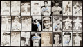 Autographs:Post Cards, Boston Red Sox Signed Postcard Lot of 43.. ...