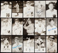 Autographs:Post Cards, Washington Senators Signed Postcard Lot of 25.. ...