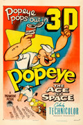 "Movie Posters:Animation, Popeye in ""The Ace of Space"" (Paramount, 1953). One Sheet (27"" X 41"") 3-D Style.. ..."