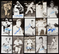 Autographs:Post Cards, Chicago White Sox Signed Postcard Lot of 35....