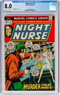 Bronze Age (1970-1979):Miscellaneous, Night Nurse #3 (Marvel, 1973) CGC VF 8.0 Off-white to white pages....