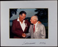 Autographs:Photos, Ted Williams and Bill Terry Dual-Signed Photograph. ...