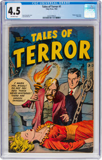 Tales of Terror #1 (Toby Publishing, 1952) CGC VG+ 4.5 Off-white pages