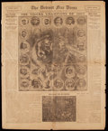 "Baseball Collectibles:Publications, 1907 Detroit Tigers American League Champions ""Detroit Free Press""Newspaper.. ..."