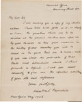 Autographs:Non-American, Winston Churchill New Year's Day Autograph Letter Signed ...