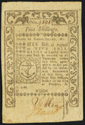 Colonial Notes:Rhode Island, Rhode Island May 1786 5s Extremely Fine.. ...
