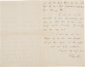 Autographs:Authors, James Russell Lowell Autograph Letter Signed ... (Total: 2 Items)
