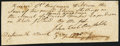 Colonial Notes:Mixed Colonies, Dartmouth Receipt 2 Pounds 11 Shillings March 4, 1780 About New.....