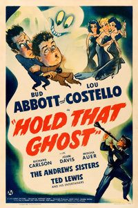 """Hold That Ghost (Universal, 1941). One Sheet (27"""" X 41"""")"""