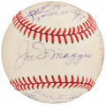 Autographs:Baseballs, New York Yankees Greats Multi-Signed Baseball with Four Hall of Famers....