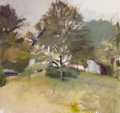 Fine Art - Painting, American, Wolf Kahn (American, b. 1927). Nevin's House Seen Through theTrees, 1977. Oil on canvas. 30 x 32-1/2 inches (76.2 x 82....